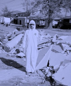 Me in a Tyvek suit, Dec 2005