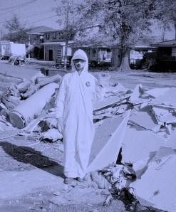 Me in a Tyvek suit, Dec 2005